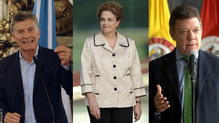 Mauricio Macri, Dilma Rousseff, y Juan Manuel Santos, los presidentes más populares de América Latina en Instagram