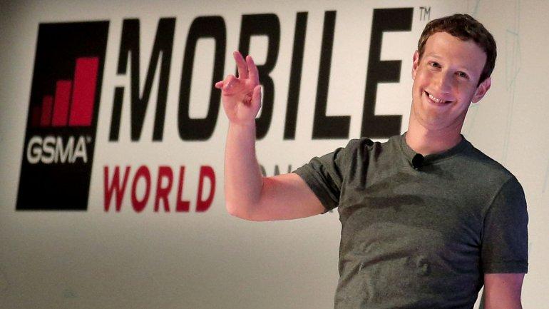 Mark Zuckerberg en elCongreso Mundial de Móviles de Barcelona