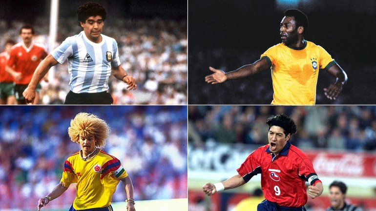 Diego Armando Maradona, Pelé, Carlos Valderrama e Ivan Zamorano, algunos de los que no han conseguido la Copa América