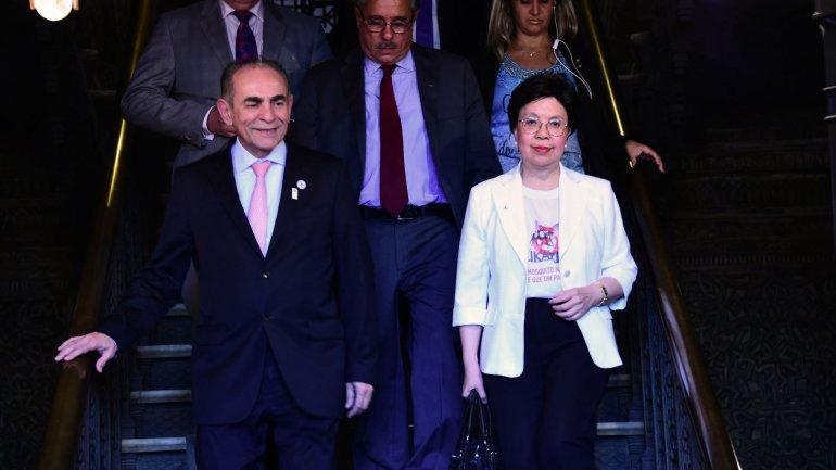 La directora general de la OMS, Margaret Chan, de visita en Brasil