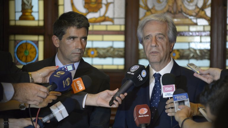 Raúl Sendic y Tabaré Vázquez