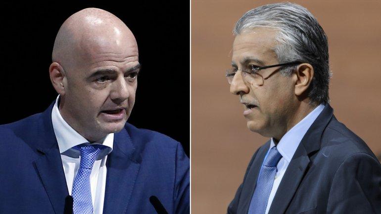 Gianni Infantino y Salman Bin Ibrahim Al Khalifa pelean por el trono de la FIFA