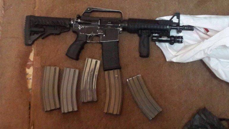 Una de las armas que utilizaban los terroristas