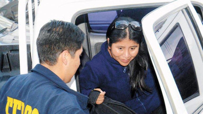 Cristina Choque fue detenida en el marco del caso Gabriela Zapata
