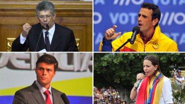 Henry Ramos Allup, Henrique Capriles, Leopoldo López y María Corina Machado