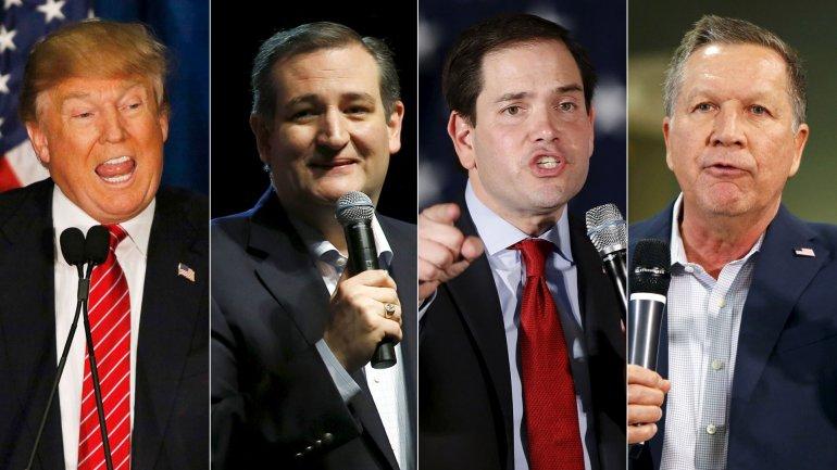 Donald Trump, Ted Cruz, Marco Rubio y John Kasich