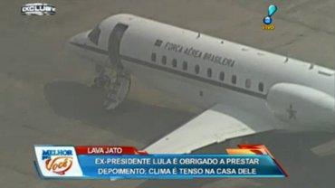 El avión que trasladará a Lula da Silva desde San Pablo hasta Curitiba espera en el aeropuerto de Congonhas