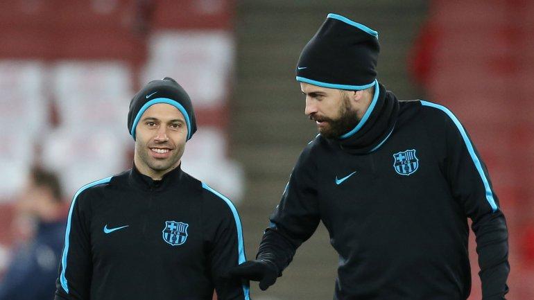 Javier Mascherano le pide a Piqué que se quite la barba