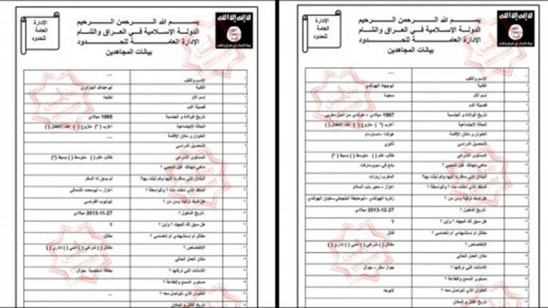 Las listas con los datos de miembros de ISIS fueron entregadas a Sky News