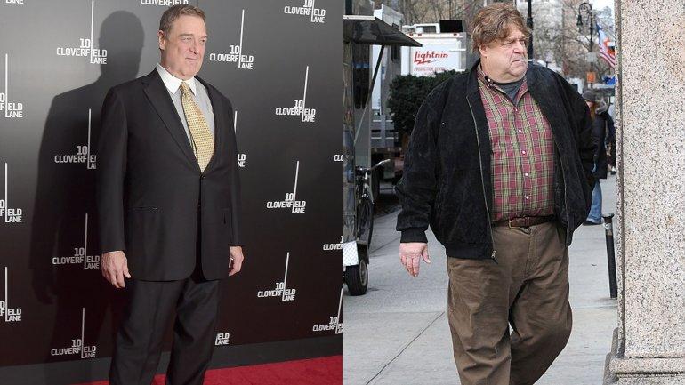El acto John Goodman llegó a pesar 180 kilos en 2011 e incluso temió por su vida
