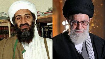 Osama Bin Laden, líder de Al Qaeda; Ali Khamenei, líder supremo de Irán