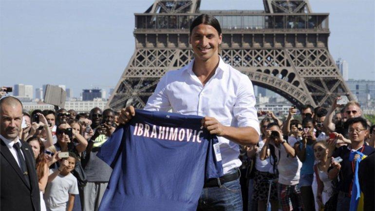 Zlatan Ibrahimovic marcó 105 goles en 112 partidos desde que en 2012 llegó a PSG, donde ganó cuatro ligas francesas consecutivas