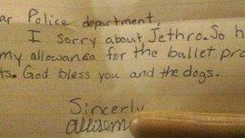 La carta de la niña que llegó al Departamento de Policía