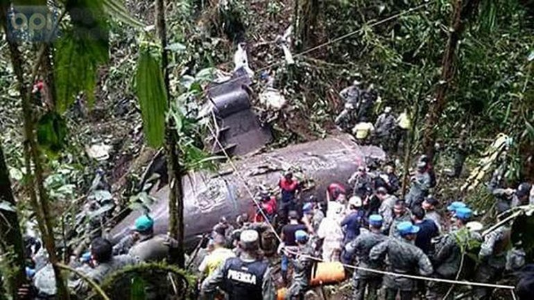 <p>Viajaban 19 paracaidistas, dos pilotos y un mecánico</p>