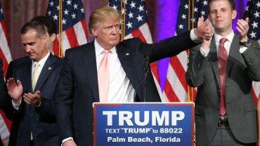 Donald Trump habla tras su victoria en las primarias republicanas del estado de Florida