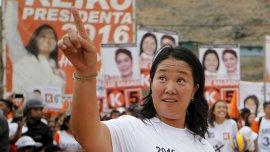 La candidata por Fuerza Popular, Keiko Fujimori