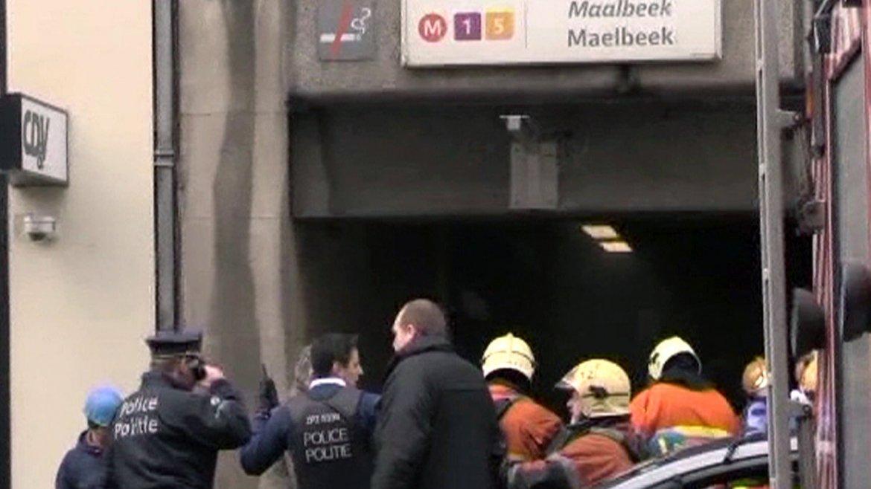 La policía evacua la estación Maelbeck de subterráneo