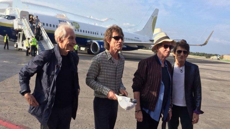 Los Rolling Stones llegaron a Cuba donde darán un concierto histórico