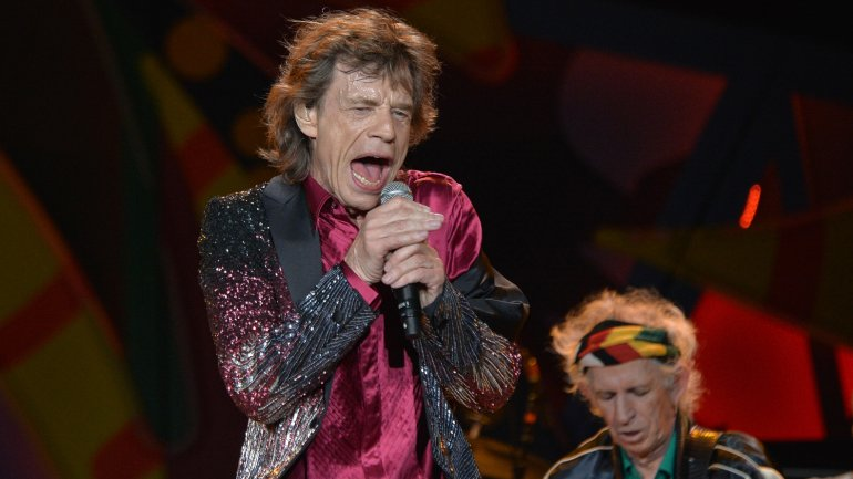 Mick Jagger y Keith Richards en el show en La Habana
