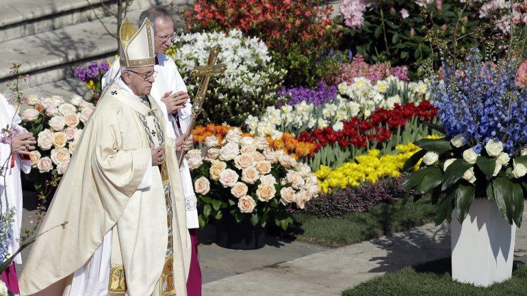 El papa Francisco en la misa del Domingo de Resurrección