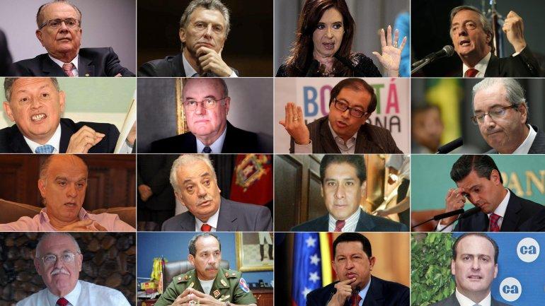 Implicados en el escándalo Panamá Papers