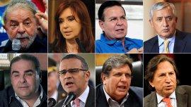 Luiz Inácio Lula da Silva, Cristina Kirchner, Rafael Callejas, Otto Pérez Molina, Elías Antonio Saca, Mauricio Funes, Alan García y Alejandro Toledo