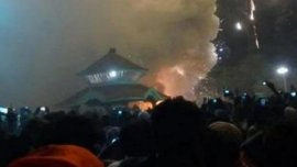 Una fuerte explosión provocó el incendio en Kerala