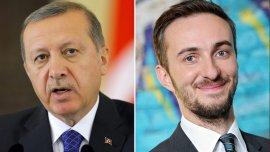 El presidente turco Recep Tayyip Erdogan y el comediante aleman JanBoehmermann