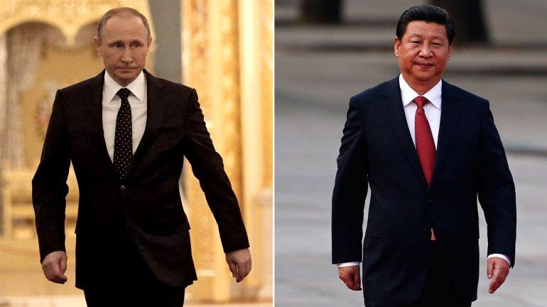 Los presidentes de Rusia y China, Vladimir Putin y Xi Jinping