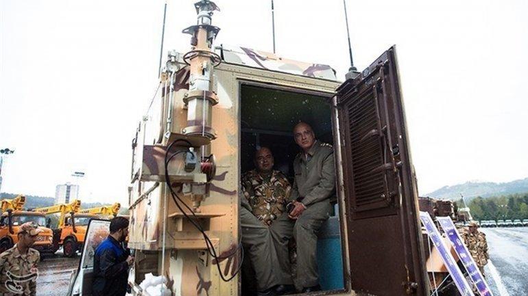 Un vehículo para descontaminar es una de las nuevas herramientas del régimen iraní Mohammed Aklaghi
