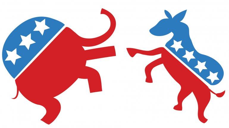 El tradicional elefante republicano y el asno que identifica a los demócratas