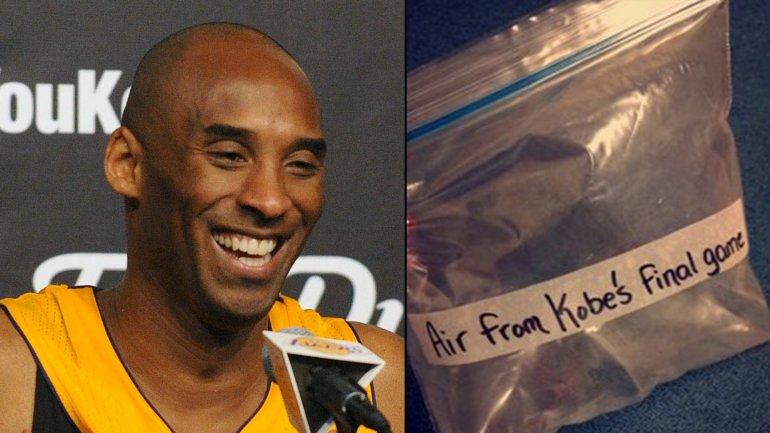 Pagan USD 15.000 por una bolsa con aire del último partido de Kobe Bryant