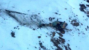 El helicóptero cayó sobre un cerro de la Coordillera de los Andres