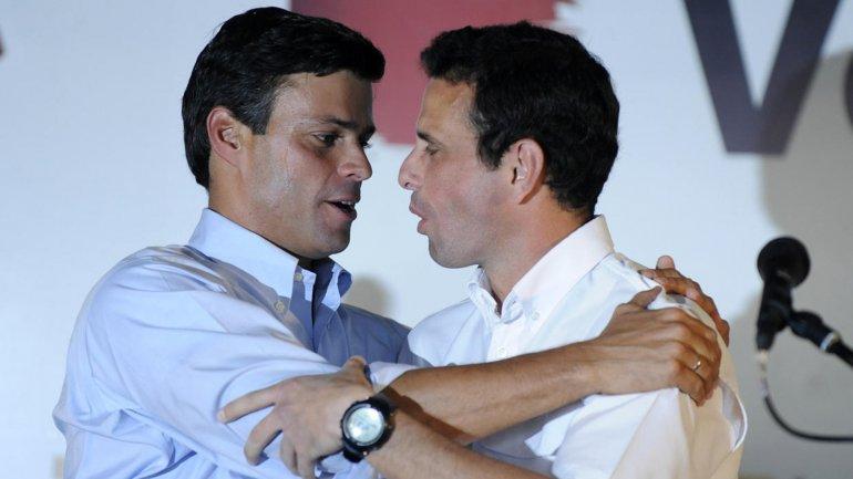 Leopoldo López junto a Henrique Capriles hace unos años