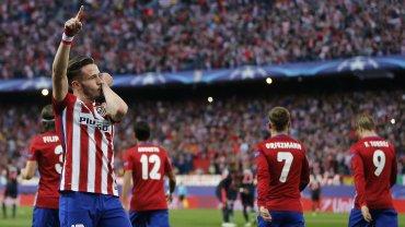 Saúl marcó el 1 a 0 ante el Bayern Múnich en el Vicente Calderón