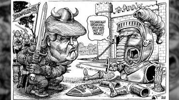 Trumpgloditas, dice la caricatura de The Economist