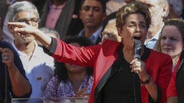 Dilma Rousseff encabezó un multitudinario acto en el centro de San Pablo