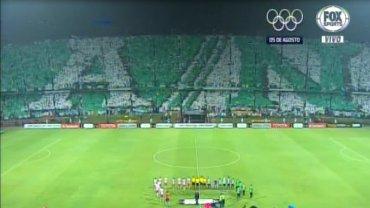 La salida de Atlético Nacional yHuracán al campo de juego