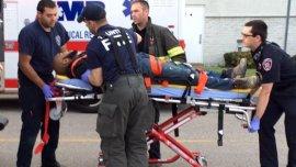 El atacante en Taunton fue herido por un policía fuera de servicio y murió después en el hospital