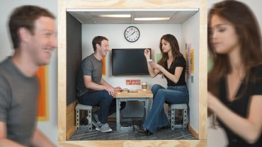 Mark Zuckerberg junto a Selene Gomez
