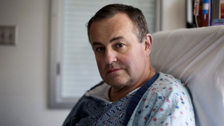 Thomas Manning, paciente del Hospital General de Massachusets. Es el primer estadounidense a quien le trasplantan un pene. (Foto gentileza de The New York Times).
