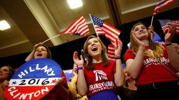 Seguidoras de Hillary Clinton en Kentucky