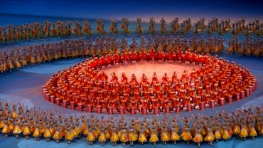 La ceremonia de apertura de los Juegos Olímpicos de Pekín 2008, que ahora están en el ojo de la tormenta por un escándalo de dopaje.