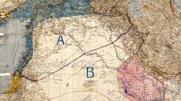 El resultado del acuerdo firmado en 1916: una línea recta entre Siria e Irak