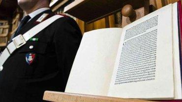Libro en un museo de Roma que reproduce la carta de Colón