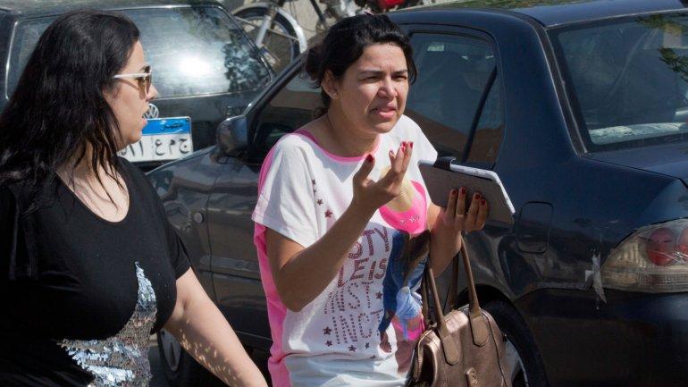 Familiares de las víctimas del vuelo de EgyptAir