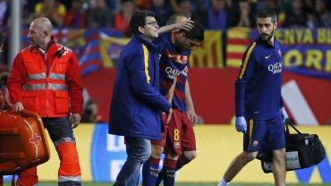 Luis Suárez se retiró lesionado en la final de la Copa del Rey, pero estará en la Copa América Centenario