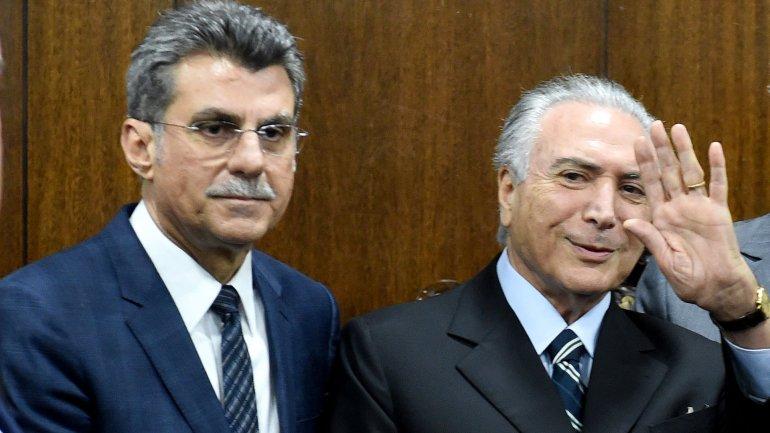 Romero Jucá Filho y Michel Temer