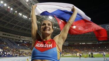 La rusa Yelena Isinbayeva, doble campeona olímpica en salto con garrocha