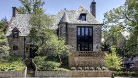 La residencia en la que vivirán los Obama en Belmont Road del barrio de Kalorama en Washington, DC.